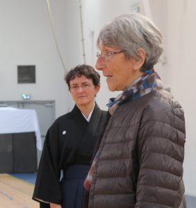 Marie-Thérèse Kolmer, renshi 5e dann a suivi l'enseignement de Michel Matin.