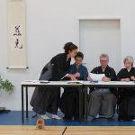 Les sensei organisés en jury